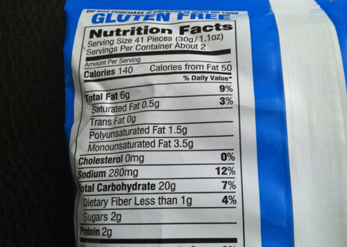 New Pepperidge Farm Mega Cheese Goldfish Puff nutrition info