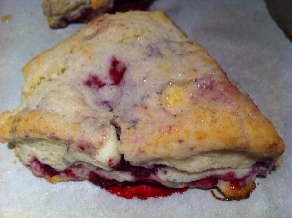 White Chocolate Raspberry Scones Recipe to Die For